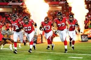 Falcons Offensive Line Ready for Battle (Photo Credit: Scott Cunningham/Getty Images Sport)