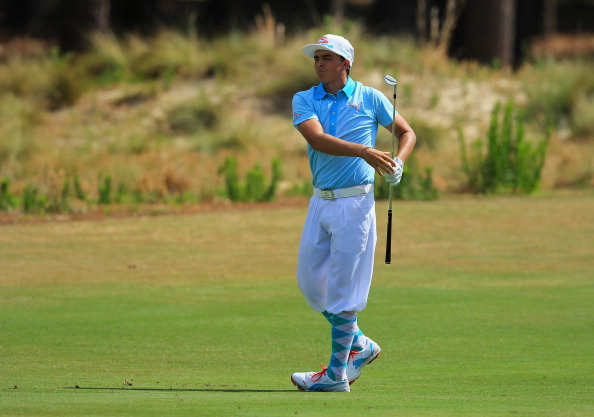 Rickie Fowler during the first round of the 114th U.S. Open.  (credit: David Cannon/Getty Images)