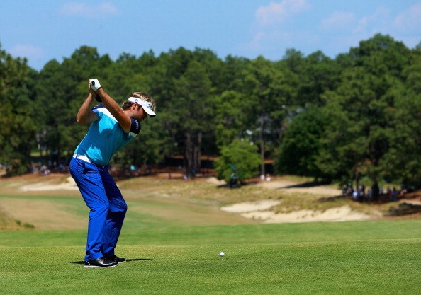 Victor Dubuisson during the final round of the 114th U.S. Open.  (credit: Andrew Redington/Getty Images)