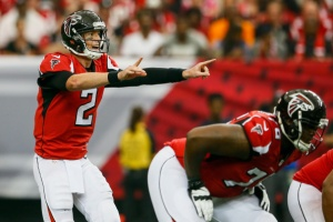 Matt Ryan takes command of the offense versus the New Orleans Saints. (Photo Credit: Kevin C. Cox/Getty Images Sport)