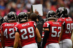 The coaching staff still working to improve the Falcons. (Photo Credit: Mike Hewitt/Getty Images Sport)