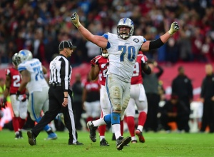 The Detroit Lions celebrating victory over our Hometown Atlanta Falcons. (Photo Credit: Jamie McDonald/Getty Images Sport)