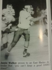 My days in the town of Bladenboro, NC where I just wanted to play football. (Photo Credit: Jamie Walker)