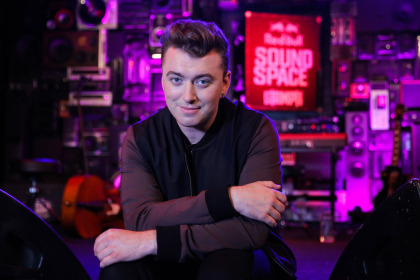 Sam Smith poses for a portrait before his performance at the Red Bull Sound Space at 97.1 AMP Radio. (Chelsea Lauren/Getty Images for AMP Radio)