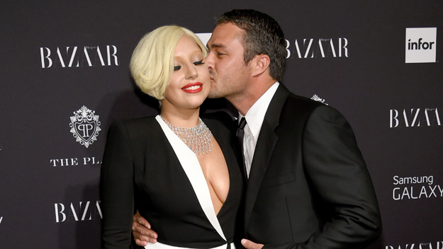 Lady Gaga and Taylor Kinney (Photo by Dimitrios Kambouris/Getty Images)