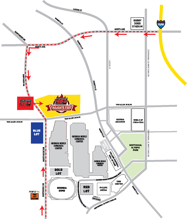 Join Us For 92-9 The Game's Tailgate Fest! – CBS Atlanta Georgia World Congress Center Map on us house of representatives district map, atlanta map, fox theatre map, marietta map, united states map,
