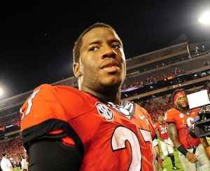 With a freshman QB and a new offensive coordinator, running back Nick Chubb will be asked to shoulder a heavy load for Georgia in 2016. (Credit: Ronald C. Modra/Sports Imagery)