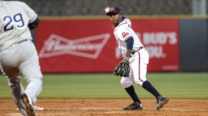Albies was leading the Double-A Southern League in batting when he was promoted to Gwinnett on April 30th. He was hitting .369 with five doubles, two triples, a homer, 13 runs and 7 RBIs. (PHOTO by Karl L. Moore G-Braves)