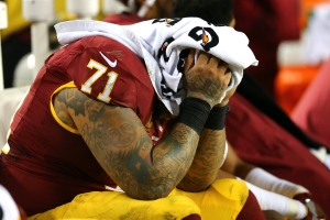 My poor Redskins. Where is John Riggins when you need him? (Photo by Elsa/Getty Images)