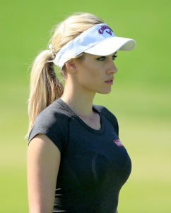 Paige Spiranac at the 2015 Dubai Ladies Masters (Photo by David Cannon/Getty Images)