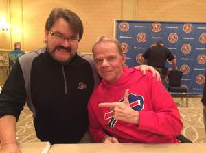 Tony Schiavone and Lex Luger, who lives in Buffalo, NY now. (Courtesy NWA Legends Fan Fest)