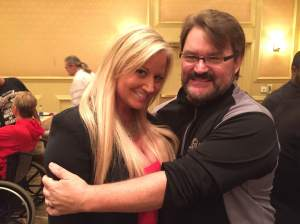 "Anytime you get a chance to hug Sunny ""The first Diva"" you do! (Courtesy NWA Legends Fan Fest)"